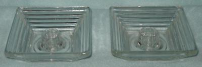 Anchor Hocking Manhattan Candle Holder Pair