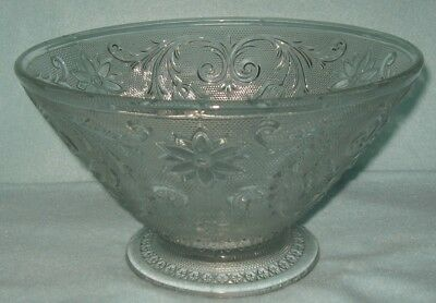 """Indiana Sandwich Clear Footed Serving Center Bowl 9.5"""""""