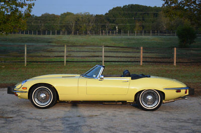 1974 Jaguar E-Type 4 SPEED ONE OWNER E V12 OTS ONE OWNER 57785 4 SPEED A/C WIRE WHEEL ACCIDENT FREE WELL PRESERVED EXAMPLE