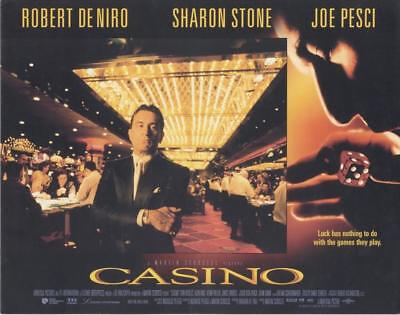 """casino""-Original Lobby Card Set (8) Uk-Robert Deniro-Joe Pesci-Sharon Stone"
