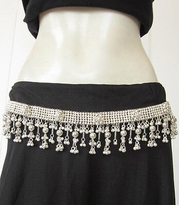 Metal Wedding Sash Belt Silver Plated Floral Design Handcrafted Bohemian Style
