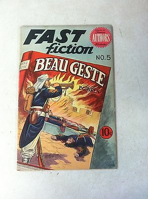 Fast Fiction #5 Kiefer Art, Beau Geste, 1950, Nice Shape, Tough To Find!
