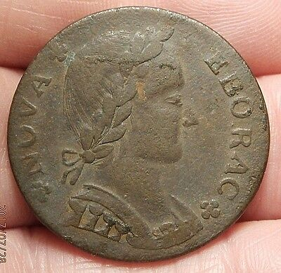1787 Nova Eborac Facing Right Medium Head New York Coinage Vf/ef Details C681