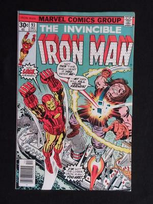 Iron Man #93 MARVEL 1976 - NEAR MINT 9.4 NM - Tony Stark, Stan Lee comics!!