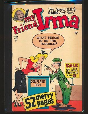 My Friend Irma # 9 - Paper dolls & one-page Millie appearance VG+ Cond.