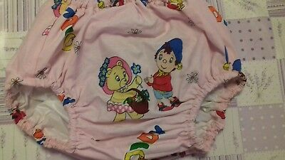 Adult baby waterproof pink Noddy  design  pants/nappy covers