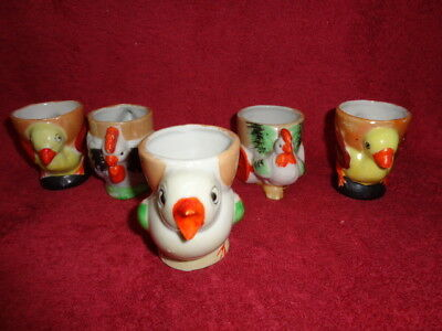 Collectable/retro/vintage/art Deco/porcelain Egg Cups 5 Only