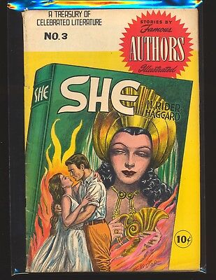 Stories By Famous Authors Illustrated # 3 - She by H. Rider Haggard VG Cond.