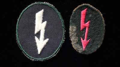 WW2 GERMAN ARMY SPECIALTY BADGES -PAIR for INFANTRY & ARTILLERY SIGNALS