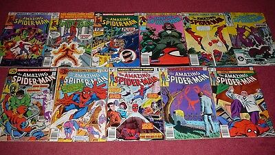 AMAZING SPIDER-MAN LOT - 11 issues bet. #158-292 (Marvel, 1976-1987) NR!