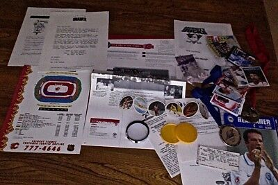 Fan Souvenir Sports Collection Lot – Medals – Magazine – Cards – Ticket