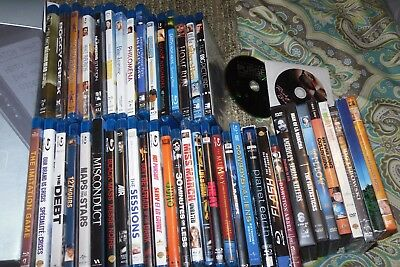 BLU RAY LOT of 38 movies and  9 crappy DVDs