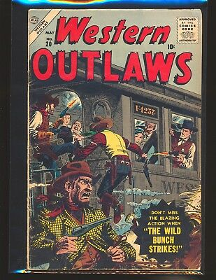 Western Outlaws # 20 - Severin cover G/VG Cond bottom staple detached from cover