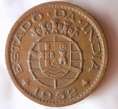 1952 PORTUGEUSE INDIA TANGA - LOW MINTAGE - Rare High Value Coin - Lot #115