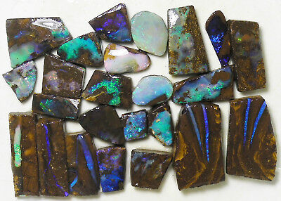 AUSTRALIAN NATURAL BOULDER OPAL 206.5c ROUGH RUB PARCEL OCA8866