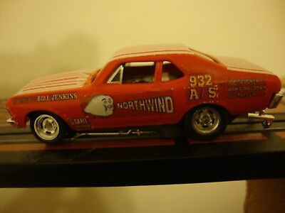 1970 Chevy Nova Northwind Jenkins drag   for TJet T-Jet HO Slot Car