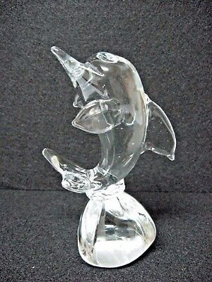 "NEW glass DOLPHIN 5.25"" tall"