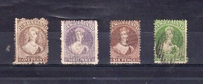 New Zealand - 1862-1871 - QV fullfaces - used selection