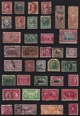 USA Stamps Interesting Selection from Old Album GCV