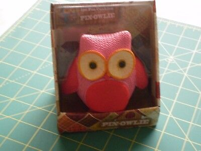 Pin - Owlie Pin Cushion - New In Box - PINK -