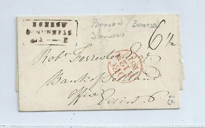 Gb  Pre Stamped Cover - 1818 Scotland Borrowstouness With Mileage Stamp Mark
