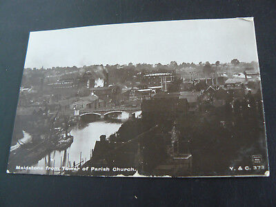 Maidstone from Tower of Parish Church Real Photo RP Postcard - V & C - Kent