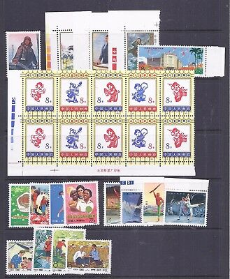 China PRC accumulation of N series issues  MNH