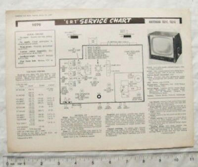 1957 Circuit diagram & Tech Data Masteradio TG21T Tele