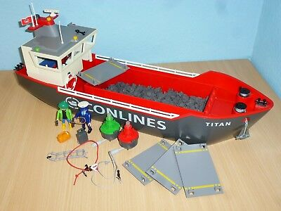 4472 Großes Container Frachtschiff zu City Action 5254 Playmobil 242