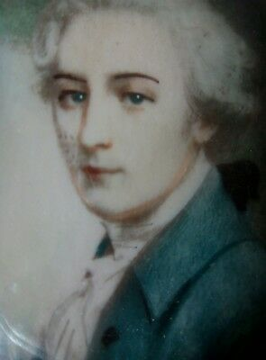 noble GEORGIAN GENTLEMAN,DUKE OF RUTLAND, VON RUTLAND, PORTRAIT MINIATURE,(1of2)