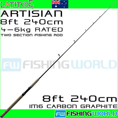 LATITUDE ARTISIAN 240 8ft IM6 CARBON 4-6kg 2 SECTION SPINNING FISHING ROD
