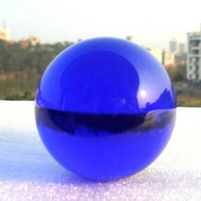 5X 49mm Blue Crystal Sphere Balls w/Case