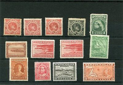 Canada Newfoundland.13 -- Early  Mounted Mint Stamps On Stockcard