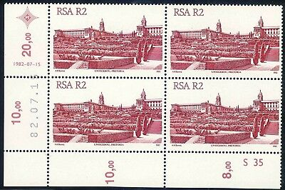 South Africa 1982 Fourth Definitive Series Rechromed R2 Control Block (**)