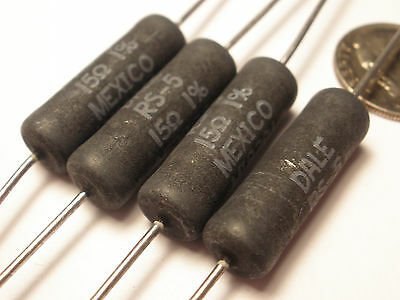 ( 15 Pc. ) Dale Resistors 15 Ohms 5 Watt 1%, Axial, Wire Wound, New