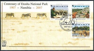 "Namibia 2007 ""Etosha National Park Centenary"" First Day Cover"