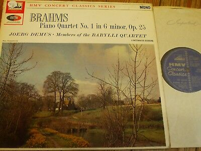 XLP 20072 Brahms Piano Quartet No. 1 / Demus / members of Barylli Quartet