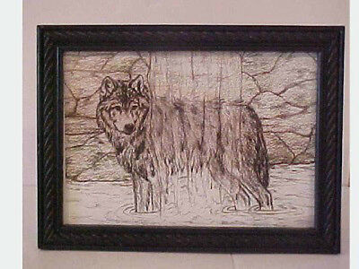 """Wolf Print Waterfalls Table Stand or Wall Mount 6"""" x 8"""""""
