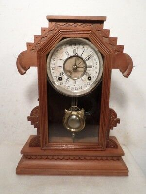 Early American 8 Day Signed Calendar Parlor Clock