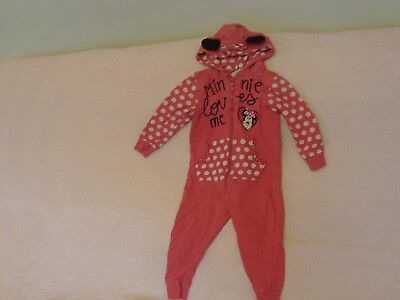 Girls Age 18 Months-2 Years - Pink All-in-One/Sleepsuit - Disney Minnie Mouse