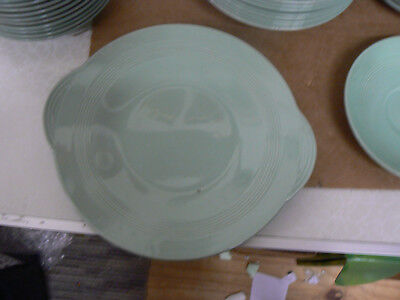 Vintage Woods Ware Beryl Green  10 Nch Cake Handled  Plates Platter 3 Available