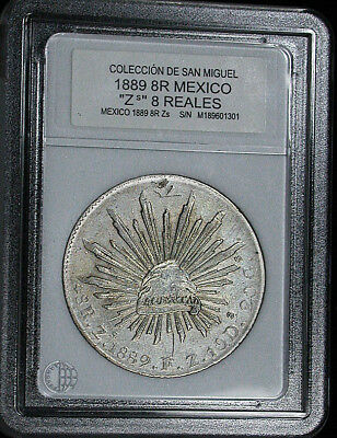 1889 Zs Mexico Uncertified Coleccion De San Miguel Countermarked 8 Reales JS