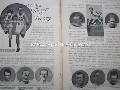1900 ATHLETICS British & US athlete photos C.B.Fry : vintage magazine article qn