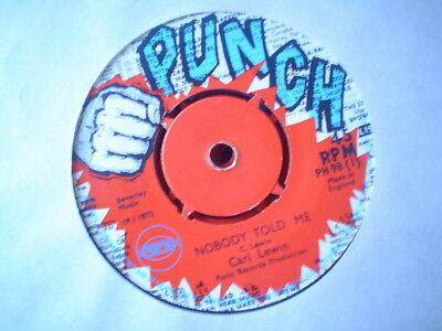 Uk Punch Ph 98-Carl Lewin-Nobody Told Me/wing-Dont Play That Song(Inst)-Vg++