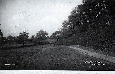 Postcard -  View of Rectory Fields, Eastwood, Nottinghamshire - posted in 1904.