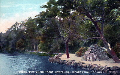 Postcard - In Stapenhill Recreation Grounds, Burton-on-Trent, Staffordshire.