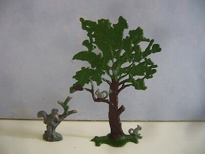 Vintage Lead Squirrels In Trees By Timpo & Other Like Charbens Zoo Farm Garden