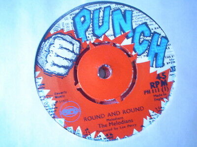 Uk Punch Ph 111-The Melodians-Round And Round/upsetters-Round Version-Nr Ex