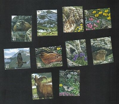 #4198 a-j, Alpine Tundra, Used Set of 10, 41 cent, Off Paper
