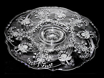 Heisey Orchid #1519 Footed Cake Plate / Salver